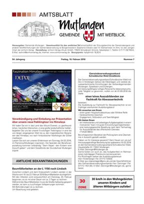 Mitteilungsblatt Mutlangen KW 07 2018