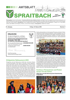 Amtsblatt Spraitbach KW 07 2018