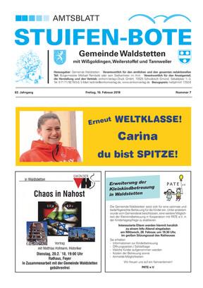 Stuifen-Bote Amtsblatt Waldstetten KW 07 2018