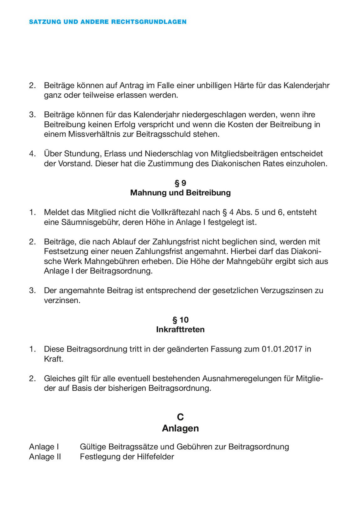 Satzung Und Andere Rechtsgrundlagen Diakonie Mitteldeutschland