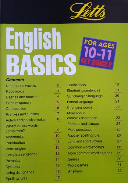 Leap Ahead English Basics 10 -11 - Contents Page