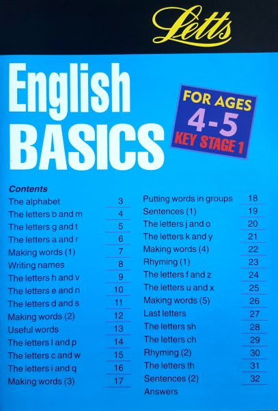 Leap Ahead: English Basics 4-5 2 leap ahead english basics 4 5 contents page