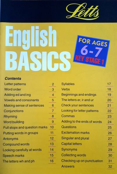 Leap Ahead: English Basics 6-7 2 leap ahead english basics 6 7 contents page