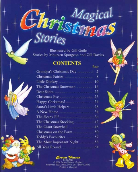 Magical Christmas Stories 2 magical christmas stories contents page