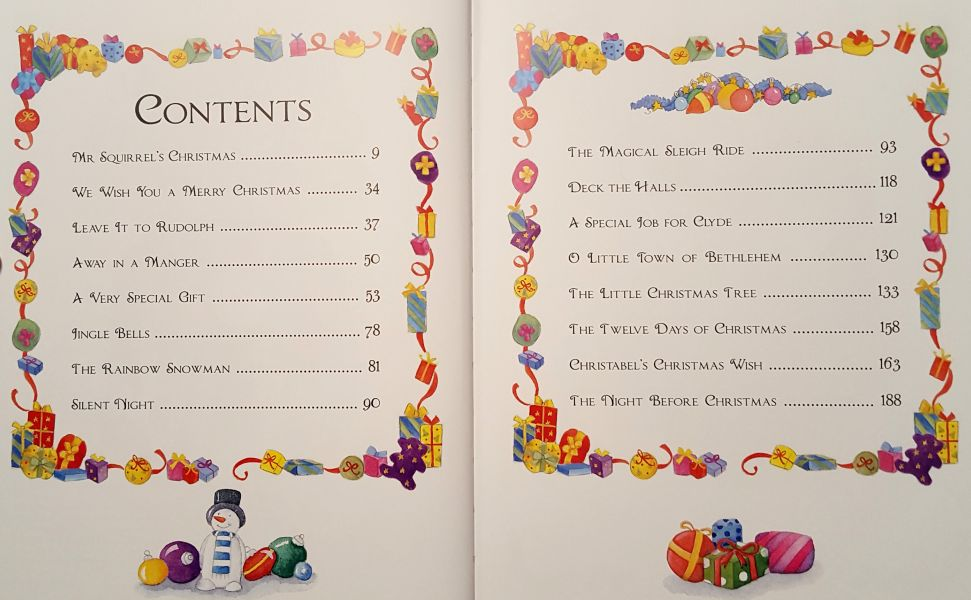 Magical Christmas Tales Contents Page
