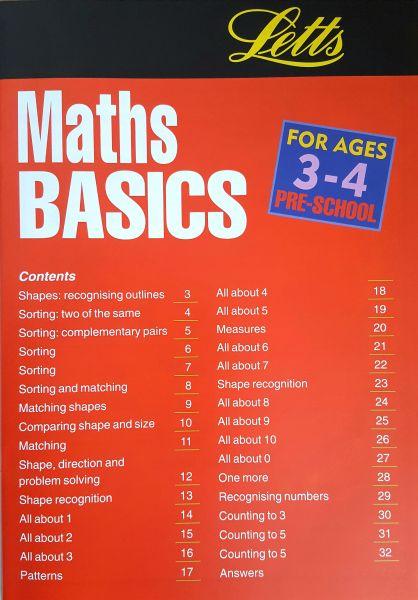 Leap Ahead Maths Basics Age 3-4