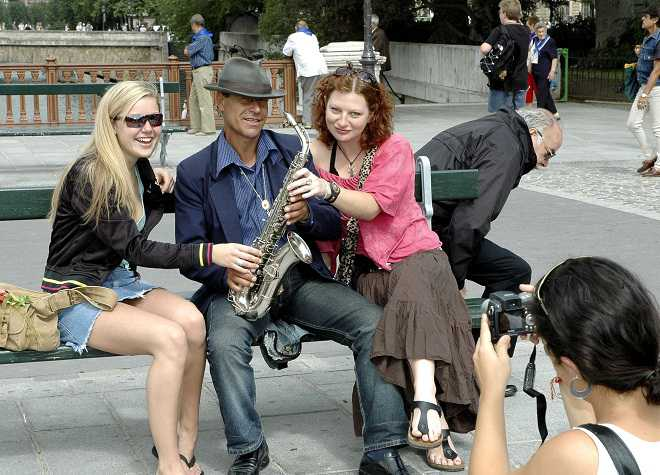Paris Women Saxophone Player