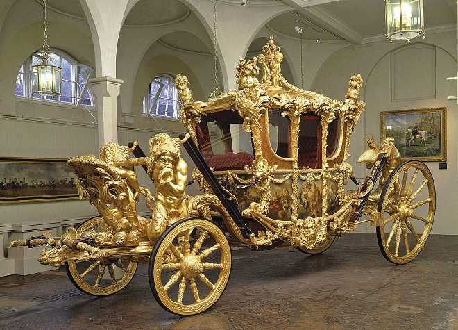 Royal Mews Gold State Coach Side View