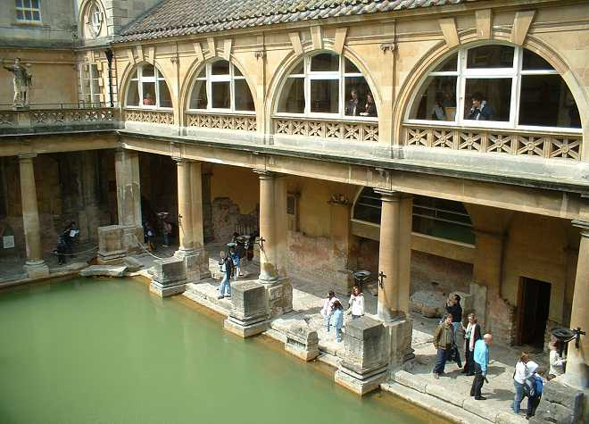 Roman Baths Downwards View