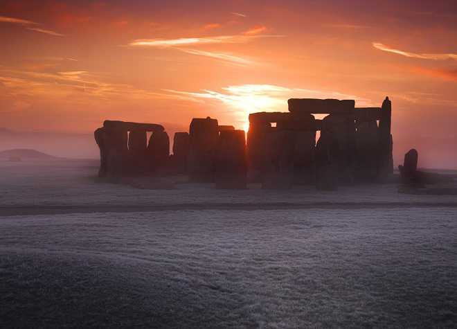Stonehenge Winter Sunset