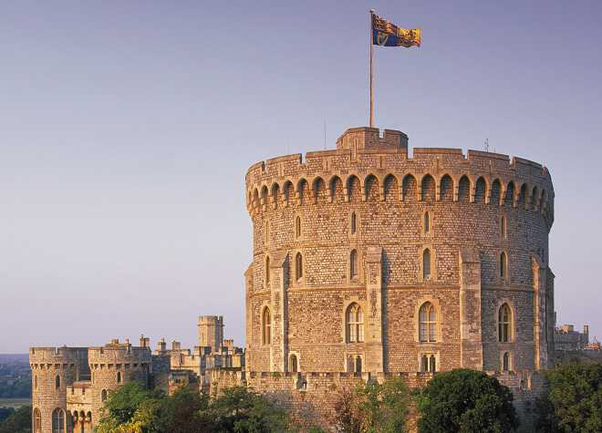 Windsor Castle Outside Flag Flying