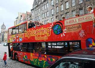 Double Decker Edinburgh Sightseeing Bus