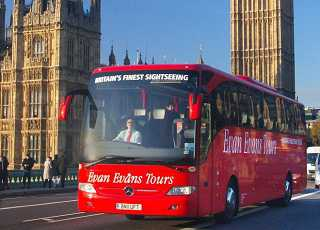 Evan Evans Tour Bus Parliament