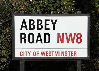 Abbey Road London Sign