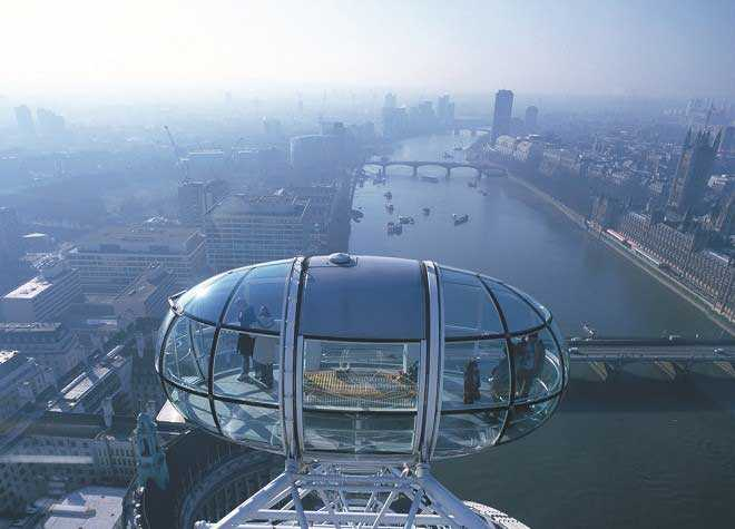 London Eye Pod Aerial View