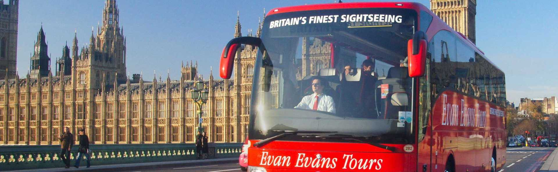 Evan Evans Tours Coach Parliament