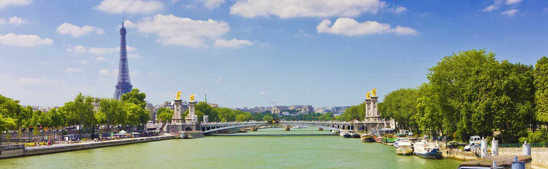Paris River Seine Daytime View