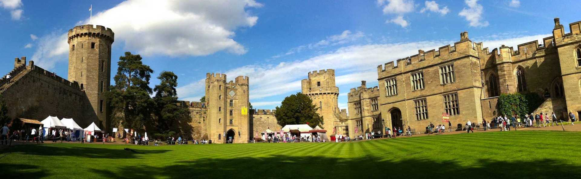 Warwick Castle Front Outside Panoramic