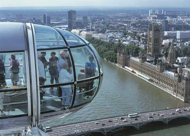 London Eye view of Parliament