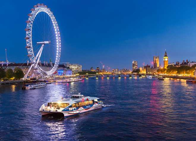 MBNA Thames Clippers at Night