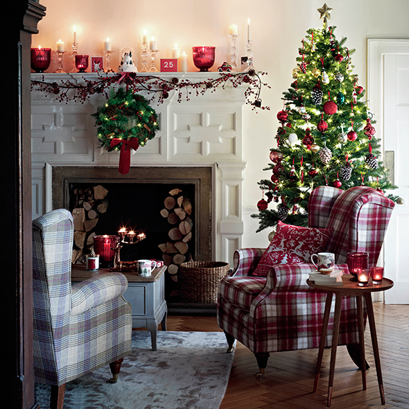 Fireplace ideas for christmas christmas decorations - Marks and spencer living room ideas ...