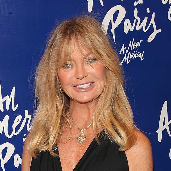 graduated hairstyles : Goldie Hawn?s blonde locks