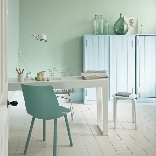 Top 12 paint colours for spring good housekeeping for Wandfarbe mint pastell