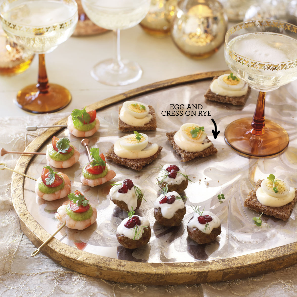 Egg and cress on rye canape recipes good housekeeping for Canape desserts