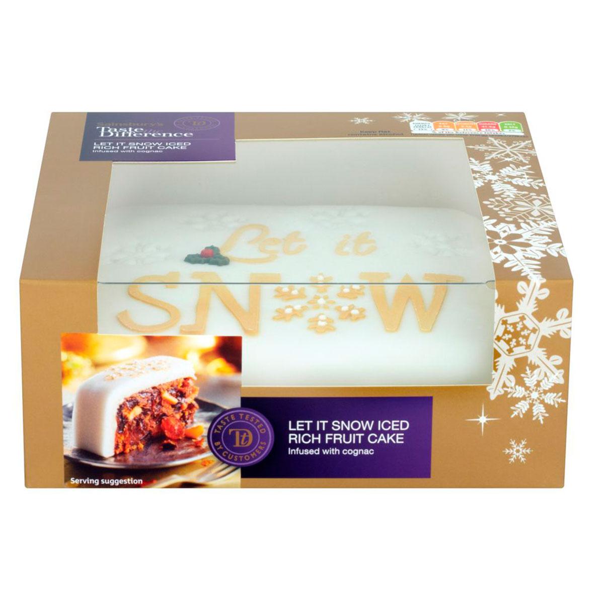 sainsburys sainsbury 39 s let it snow iced christmas cake. Black Bedroom Furniture Sets. Home Design Ideas