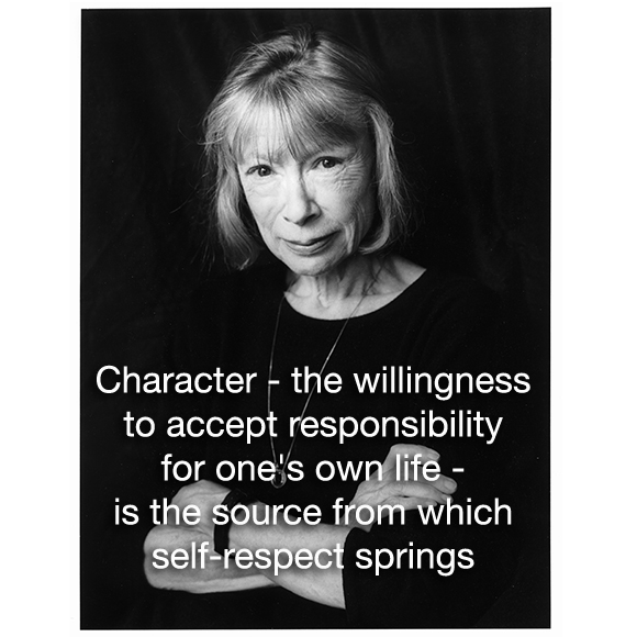 didion on self respect essay On self-respect an essay on understanding our character, worth, and limits joan didion vogue jun 1961 permalink .