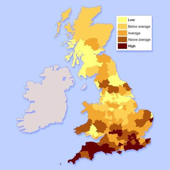 where is the most affordable place to live in the uk