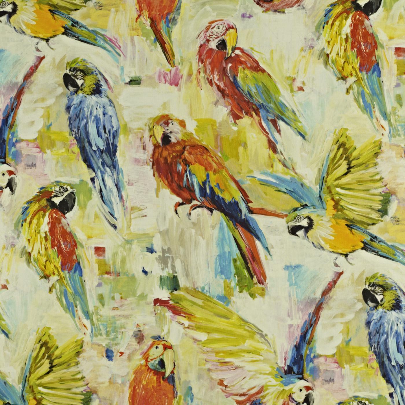 Macaw Tropical Fabric Mardi Gras Prestigious Textiles