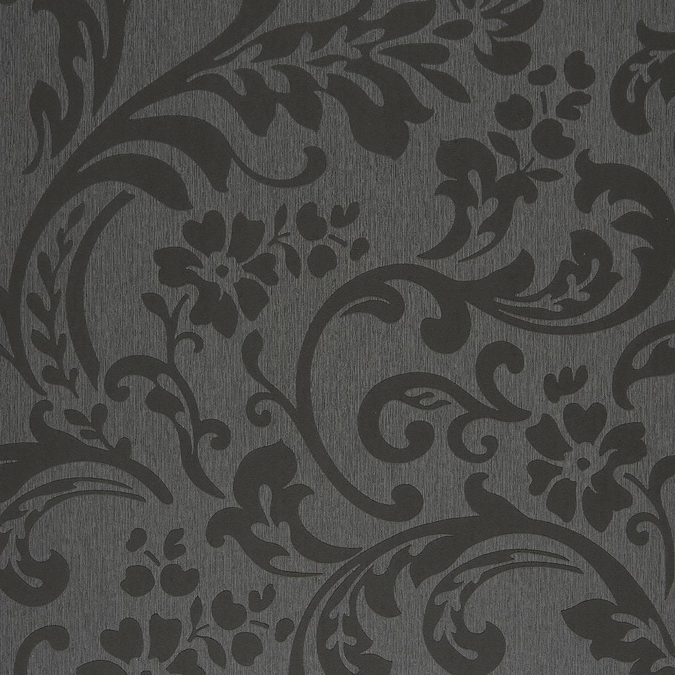 Arabesque Black Wallpaper Midnight 3 Casadeco