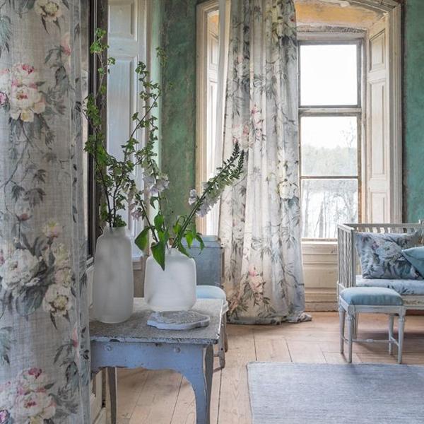 Floreale Grande Zinc Fabric Caprifoglio Designers Guild
