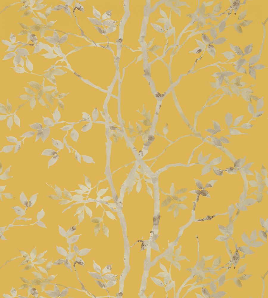 Tyndall Pewter On Gold Wallpaper Zola Wallpaper Anna