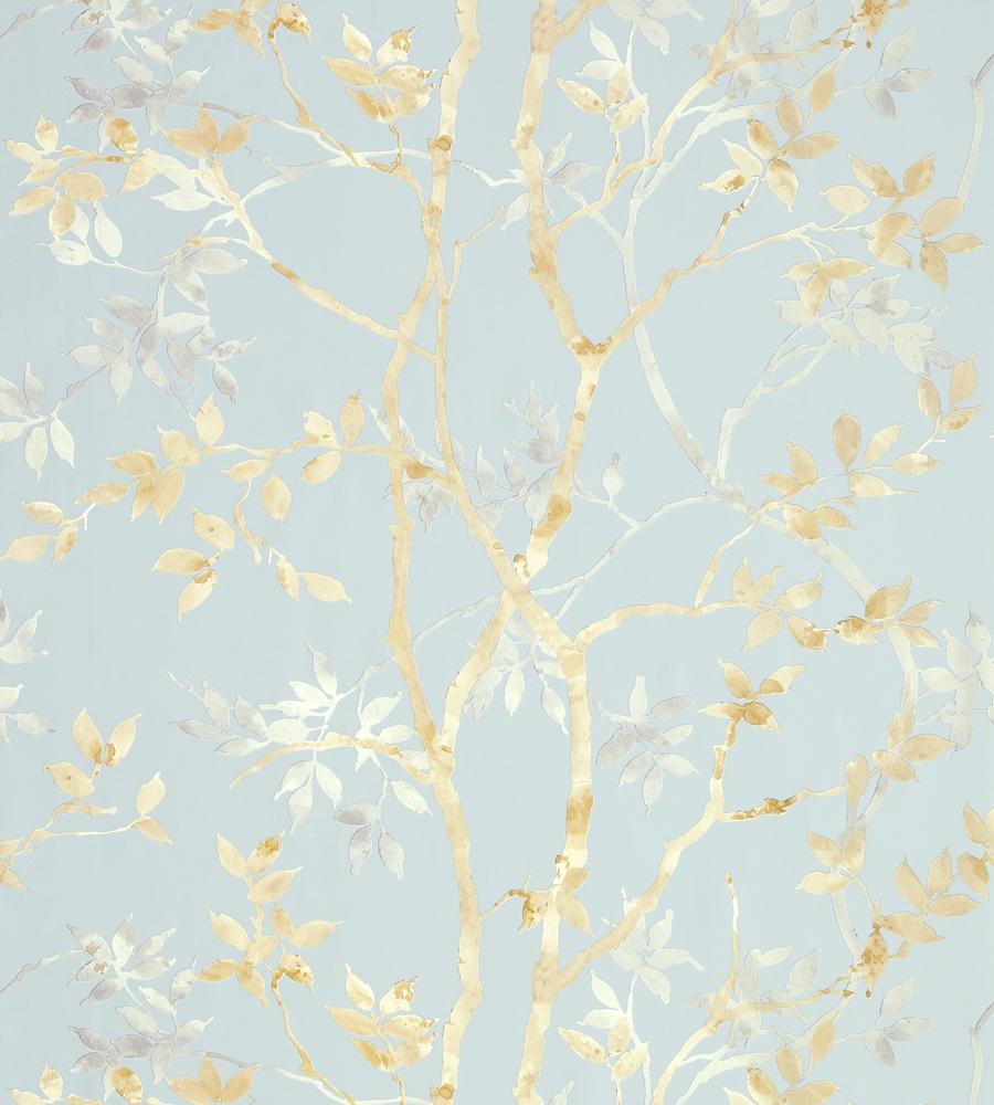 Tyndall Neutral On Blue Wallpaper Zola Wallpaper