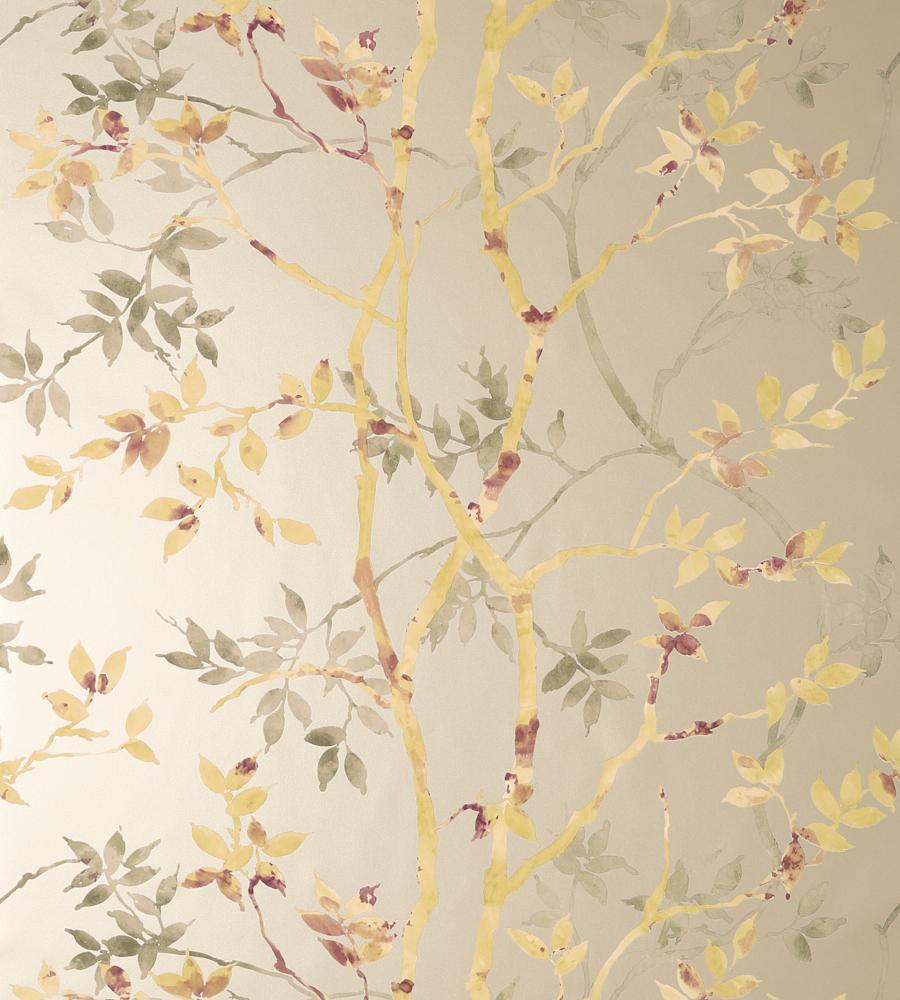 Tyndall Gold On Metallic Pewter Wallpaper Zola