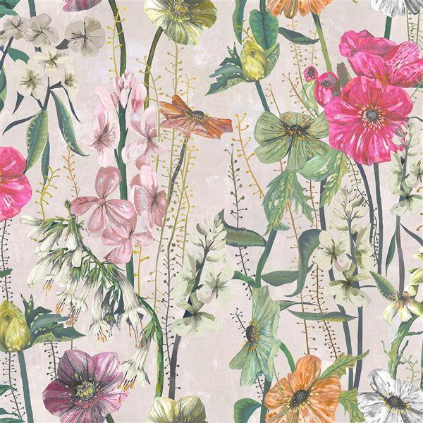 Fuchsia Cuttings by Designers Guild Multicolored Fabric 1 YARD CANOSSA