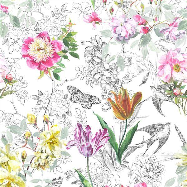 Sibylla Fuchsia Fabric Jardin Des Plantes Designers
