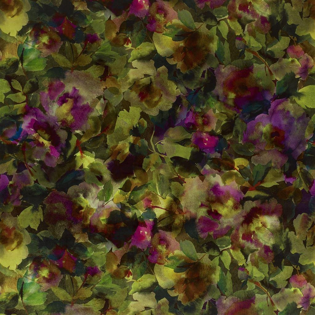 Surimono Berry Fabric Jaipur Rose Designers Guild
