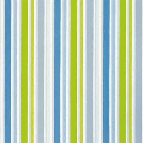 Sweetpea Stripe Cobalt Fabric Around The World