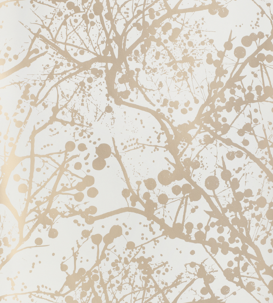 Wilderness Gold White Wallpaper Ferm Living Wallpaper