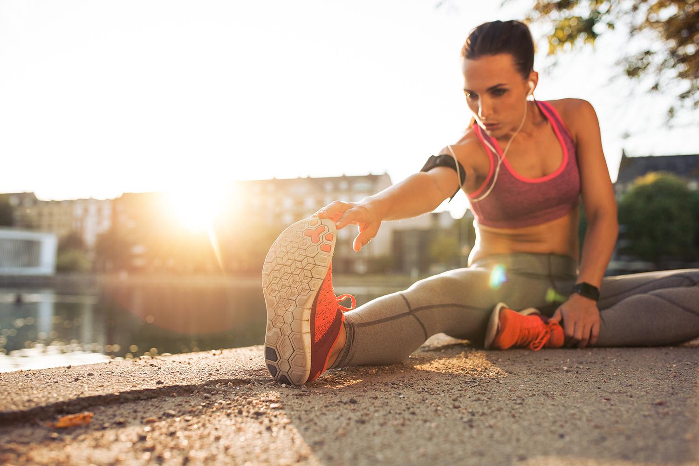 Corsa dopo viaggio aereo - Stretching