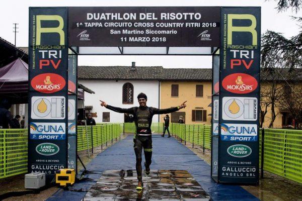 Filippo Rinaldi, un'altra vittoria al Duathlon Cross di Pavia