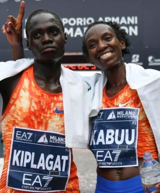 Milano Marathon - Vivian Jerono Kiplagat e Lucy Kabuu- foto LaPresse Organizzatori