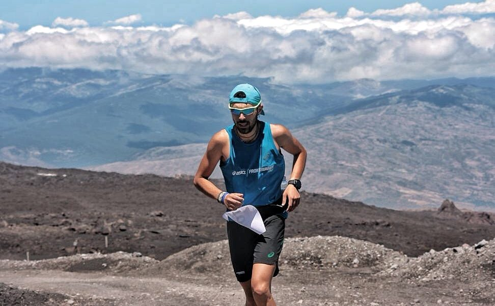 Francesco Mangano alla Supermaratona dell'Etna