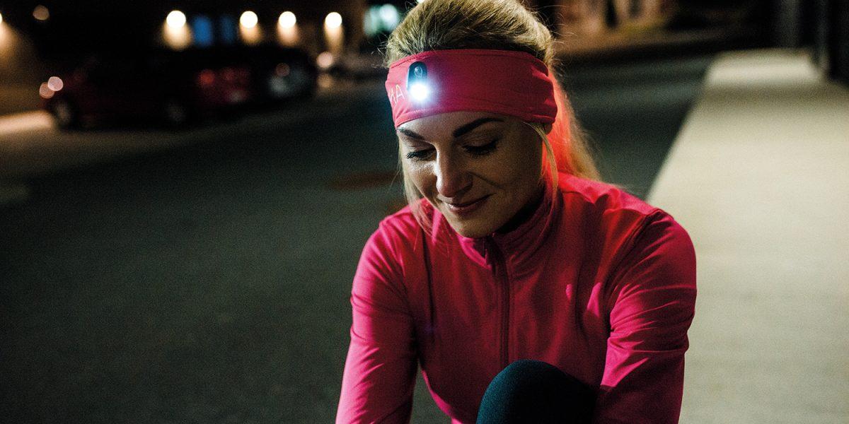 LUMA ACTIVE: il primo copricapo per illuminazione per gli sport all'aperto