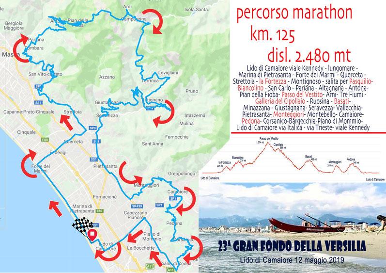 Gran Fondo della Versilia - percorso Marathon