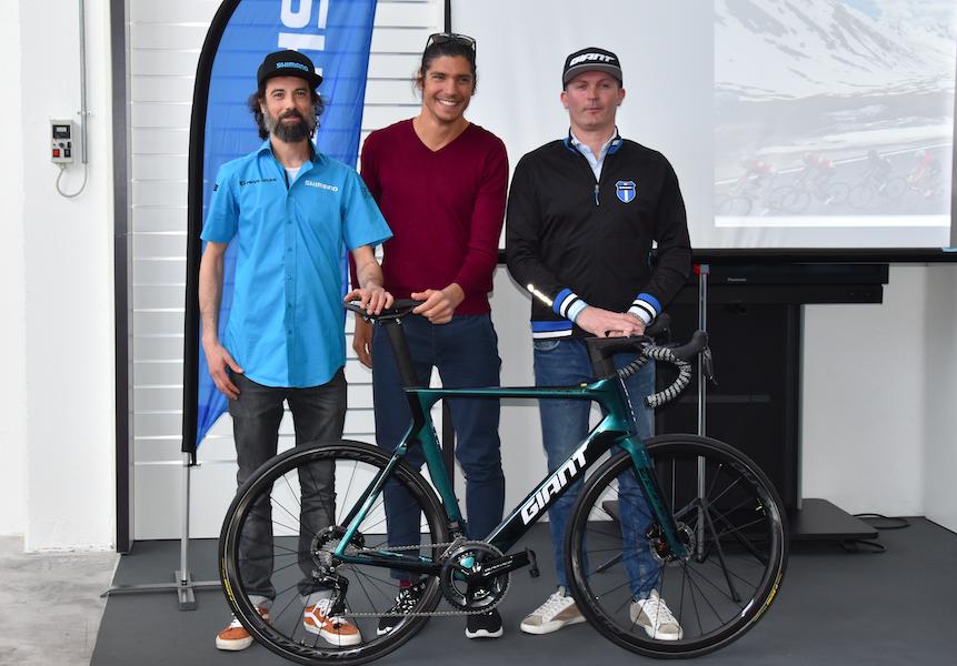 Giant e Shimano accanto al campione di triathlon Alessandro Fabian