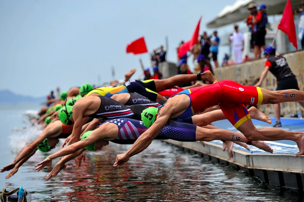 ITU Triathlon World Cup sprint a Cagliari.